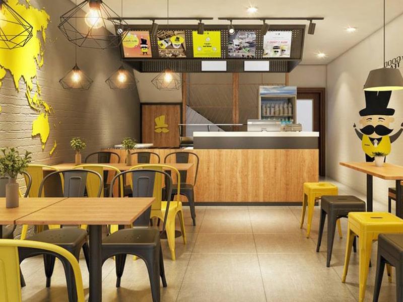 thiết kế quán ăn sáng bình dân