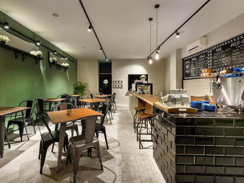 thiết kế quán cafe mặt tiền