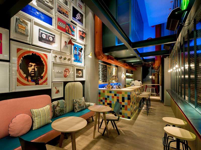 thiết kế quán cafe nhà ống