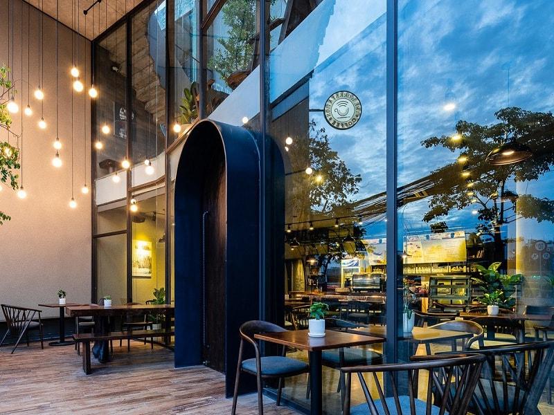 thiết kế quán cafe ngoài trời