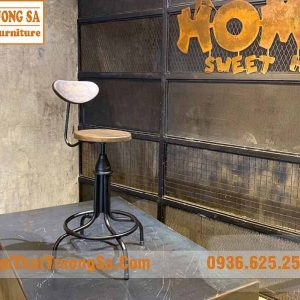ghế quầy bar sắt vintage TS490