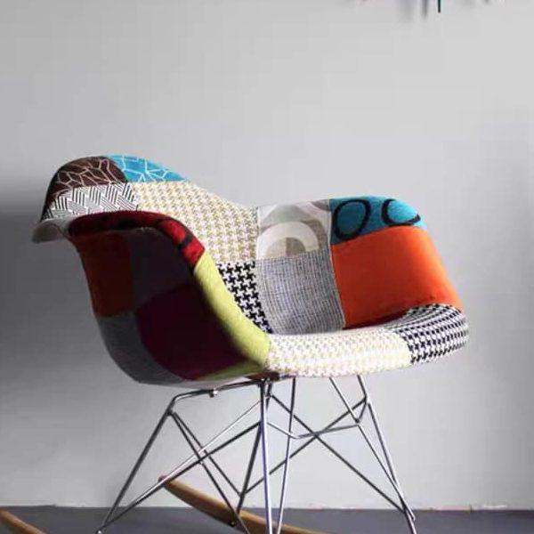 ghế nhựa bọc vải thổ cẩm J6A