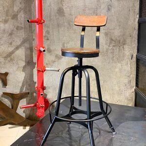ghế quầy bar chân sắt rertro TS495