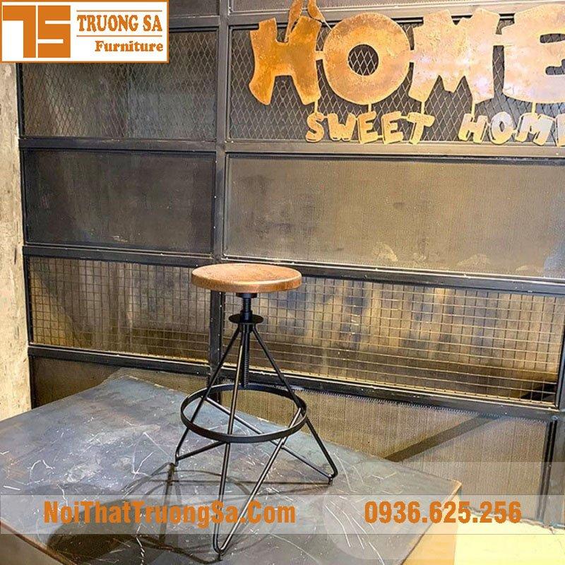 ghế sắt quầy bar TS489