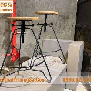 Ghế xoay cao chân sắt TS501