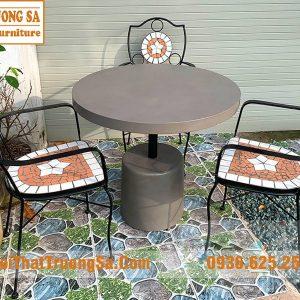 mẫu bàn ghế ngoài trời TS497