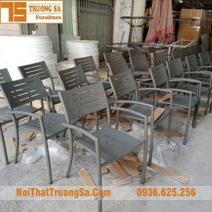 Bàn ghế cafe ngoài trời TS128B