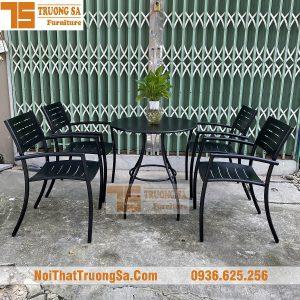 Bàn ghế cà phê ngoài trời đẹp TS128b