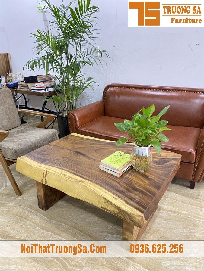 Bàn sofa gỗ nguyên tấm TS608