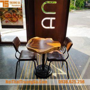 bàn cafe gỗ me tây TS121