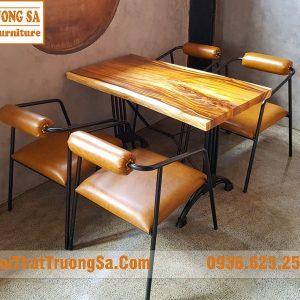 Bộ bàn ghế cà phê khung sắt TS619