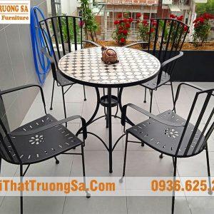 Bàn ghế sắt cafe TS629