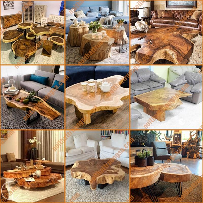 Bàn trà gỗ me tây - Bàn sofa gỗ me tây