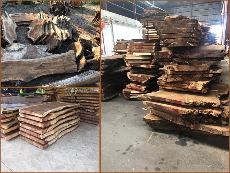 Giá mặt bàn gỗ me tây nguyên mộc